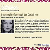 Das geheime Tagebuch der Carla Bruni, Audio-CD - Produktdetailbild 1