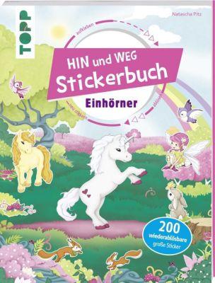 Das Hin-und-weg-Stickerbuch - Einhörner, Natascha Pitz