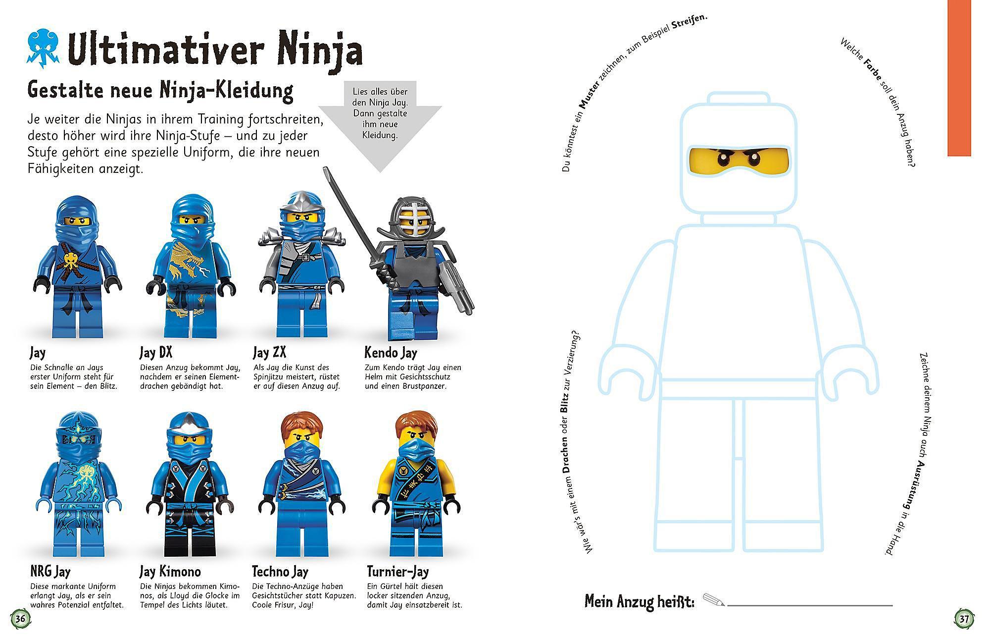 das machmalbuch lego® ninjago® buch bei weltbildde