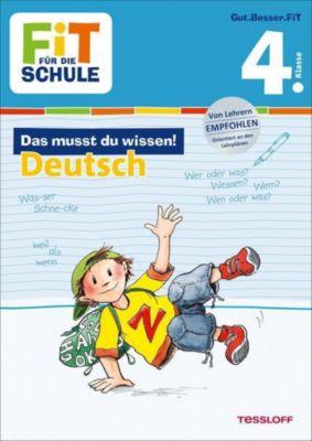 Das musst du wissen! Deutsch 4. Klasse - Kirstin Gramowski |