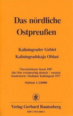 Das nördliche Ostpreussen 1 : 230 000. Übersichtskarte Stand 1987