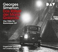 Das Rätsel der Maria Galanda - Vier Fälle für Inspektor G7, 4 Audio-CDs, Georges Simenon