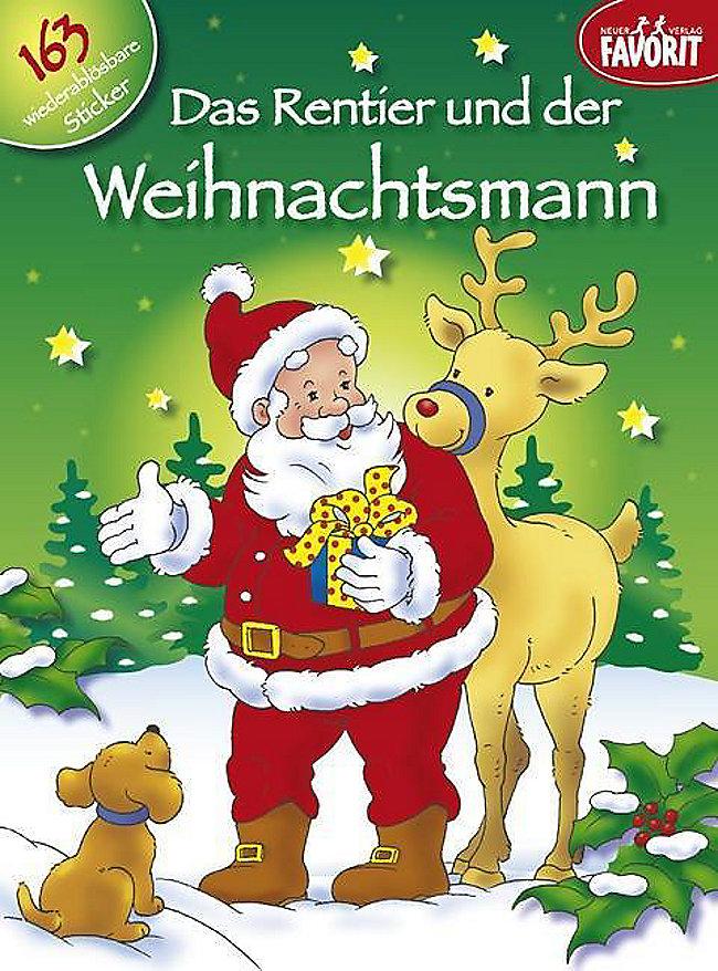 Rentier Und Weihnachtsmann