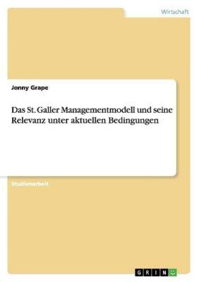 Das St. Galler Managementmodell und seine Relevanz unter aktuellen Bedingungen, Jonny Grape