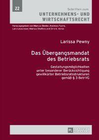 Das Uebergangsmandat des Betriebsrats, Larissa Pewny