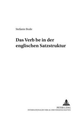 Das «Verb» be in der englischen Satzstruktur, Stefanie Bode