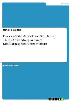 Das Vier-Seiten-Modell von Schulz von Thun - Anwendung in einem Konfliktgespräch unter Müttern, Natalie Sajons