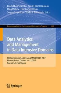 Data Analytics and Management in Data Intensive Domains