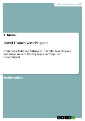 David Hume: Gerechtigkeit, S. Müller