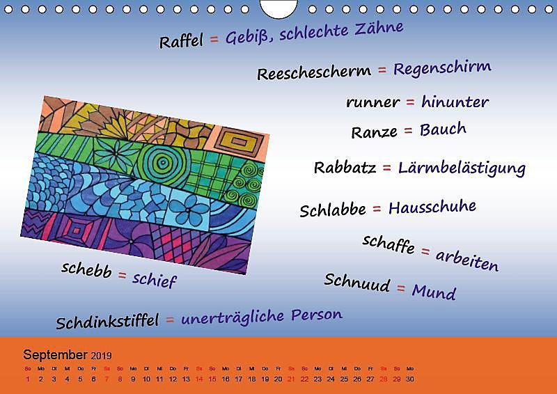 De Hessisch Kalenner Hessisch Babbele Lerne In Aam Johr