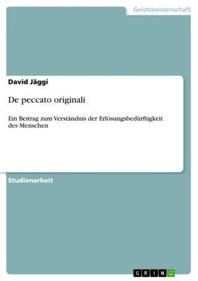 De peccato originali, David Jäggi