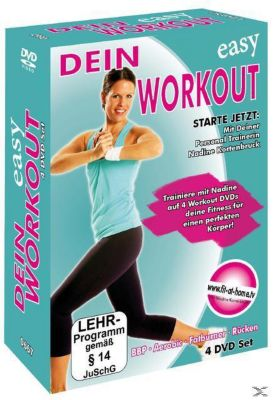 dein easy workout r cken aerobic fatburner bauch beine po film. Black Bedroom Furniture Sets. Home Design Ideas