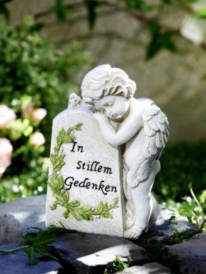 """Grabschmuck Buch mit Kerzenhalter und Inschrift /""""In Stillem Gedenken/"""" Trauer Dek"""