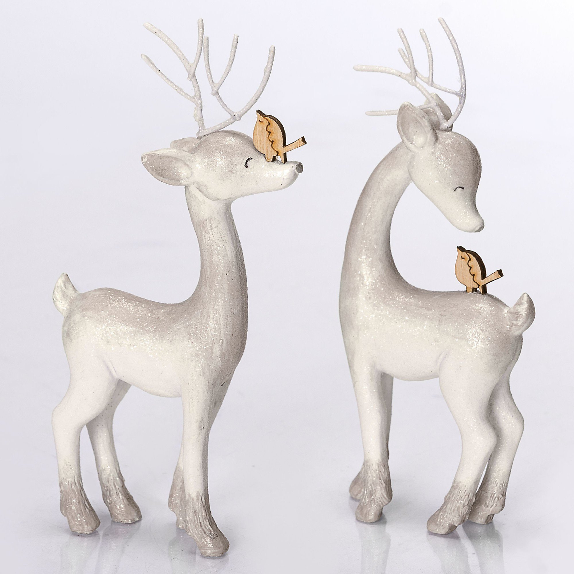 Deko Figuren Hirsche 2 Tlg Holly Buddy Weiß Weltbildde