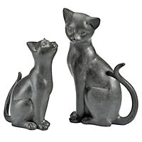 "Deko-Katzen ""Duett"", 2er-Set - Produktdetailbild 1"