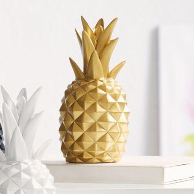 deko objekt ananas goldfarben jetzt bei bestellen. Black Bedroom Furniture Sets. Home Design Ideas