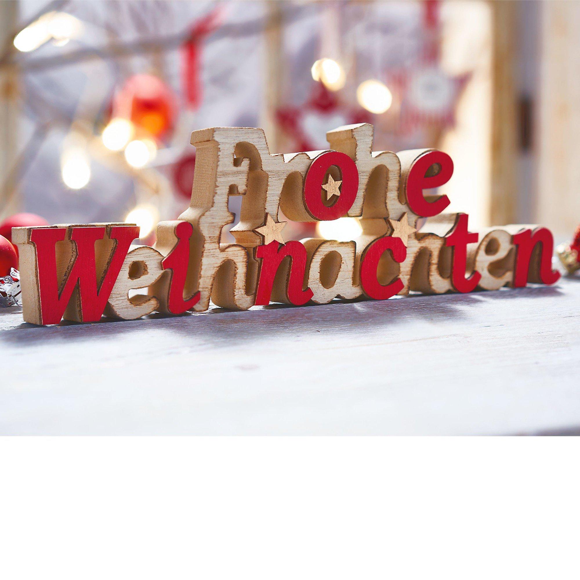 Schriftzug Frohe Weihnachten.Deko Objekt Schriftzug Frohe Weihnachten Bestellen Weltbild De