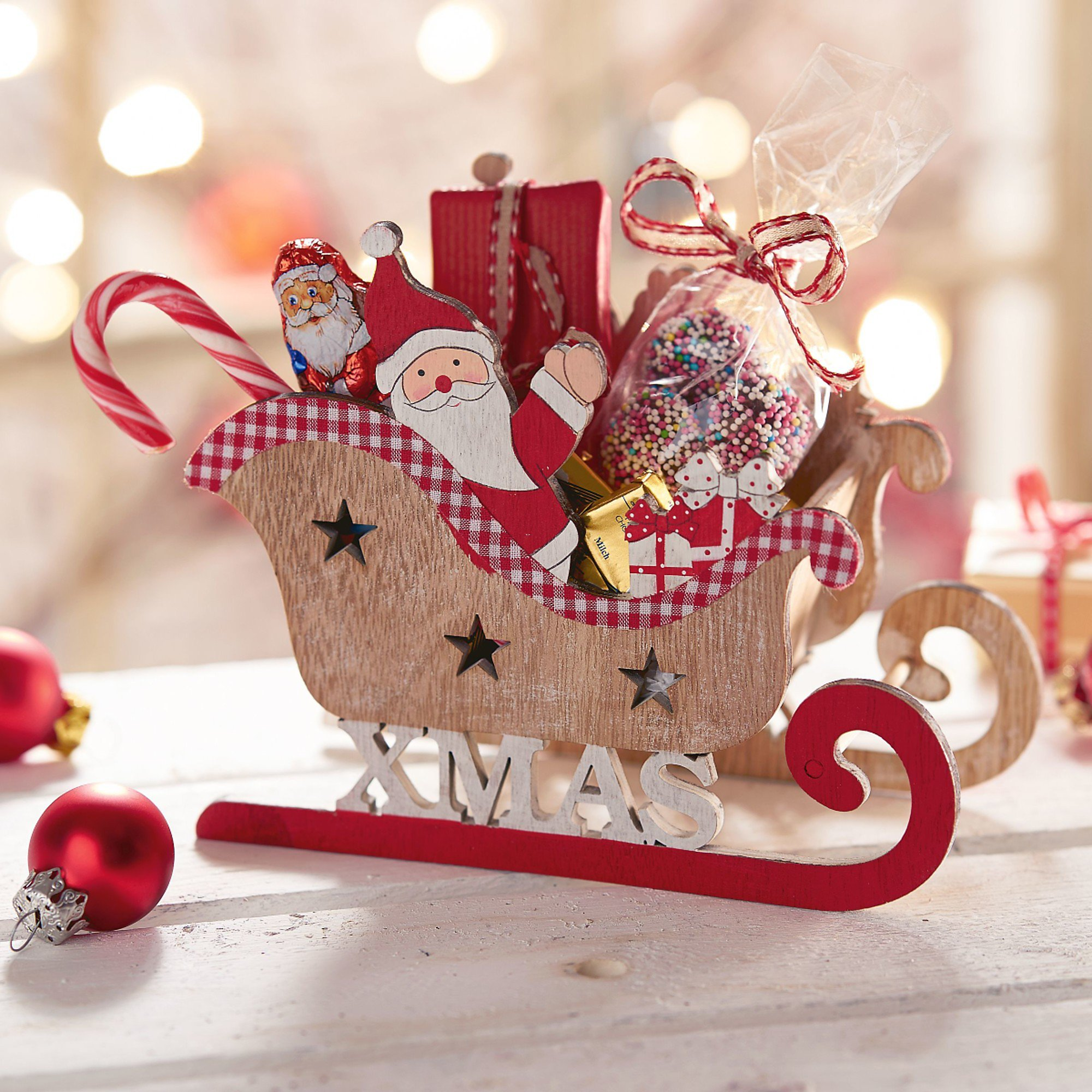 Deko-Objekt Weihnachtsschlitten Santa bestellen | Weltbild.de