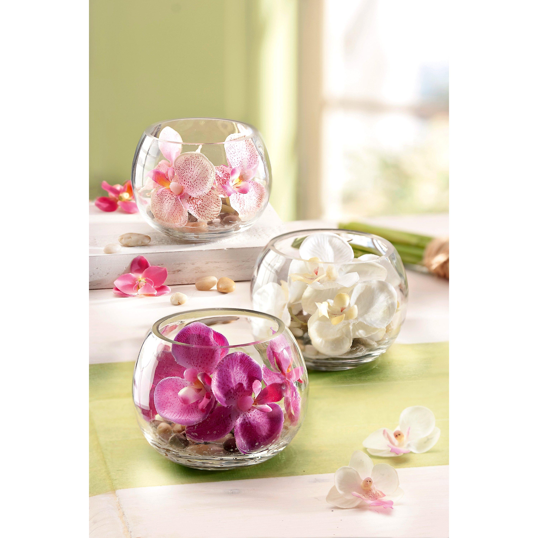 Deko Orchidee Im Glas 3er Set Jetzt Bei Weltbild De Bestellen