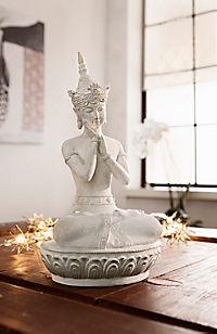 "Dekofigur ""Buddha"", cremefarben - Produktdetailbild 1"