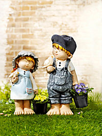 "Dekofigur ""Lina"" mit Pflanzeimer - Produktdetailbild 1"
