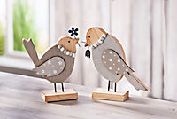 """Dekofiguren """"Holzvogel"""", 2er-Set - Produktdetailbild 1"""