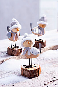 """Dekofiguren """"Wintervögel"""", 3er-Set - Produktdetailbild 2"""