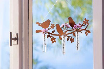 Dekohänger Vögel mit Vasen