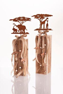 Dekosäulen Afrika, 2er-Set