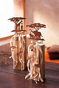 """Dekosäulen """"Afrika"""", 2er-Set - Produktdetailbild 1"""