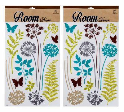 Dekosticker Blumen, 26 Stück
