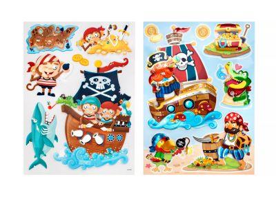Dekosticker ''Piraten'', 2er Set