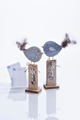 Dekovögel Frida und Fips, 2er Set