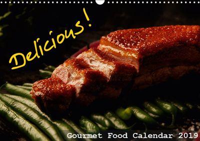 Delicious - Gourmet Food Calendar 2019 / UK-Version (Wall Calendar 2019 DIN A3 Landscape), Dirk Vonten