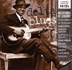 Delta Blues-Milestones Of Legends, 10 CDs, Various, Son House, Muddy Waters, Lead Belly