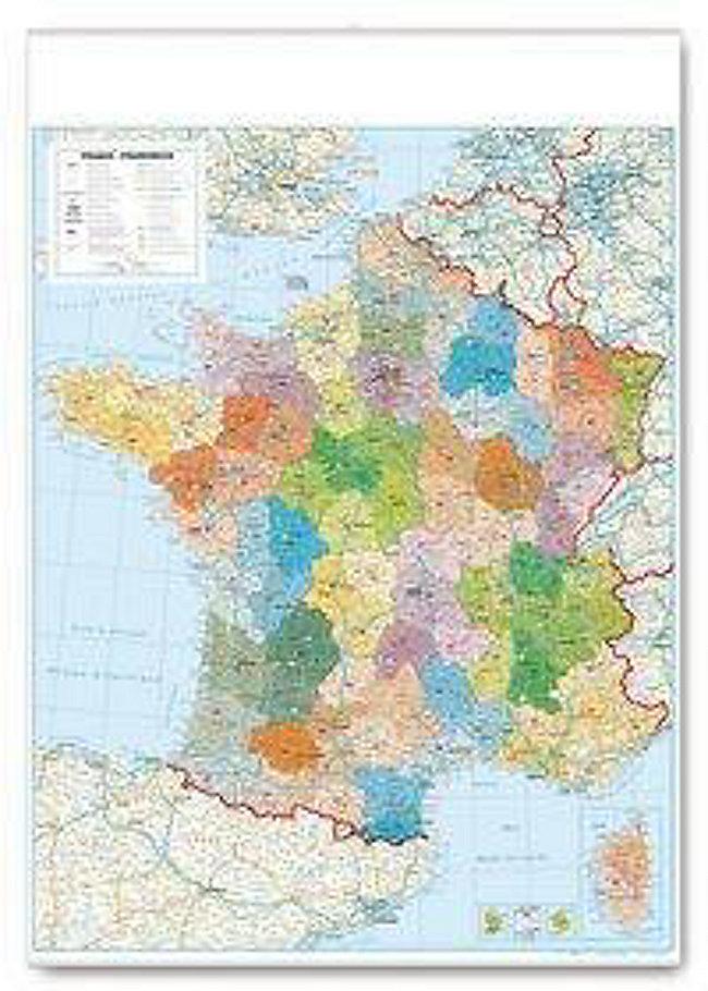 Frankreich Departements Karte.Departementkarte Frankreich Planokarte Buch Portofrei Bestellen