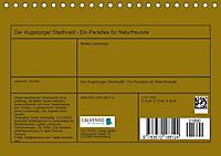 Der Augsburger Stadtwald - Ein Paradies für Naturfreunde (Tischkalender 2019 DIN A5 quer) - Produktdetailbild 13
