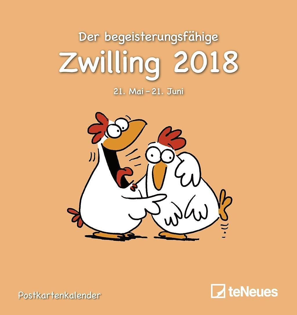 Der Begeisterungsfähige Zwilling 2018 Kalender Bei Weltbildde