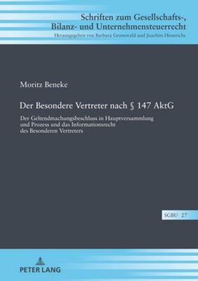 Der Besondere Vertreter nach § 147 AktG, Moritz Beneke