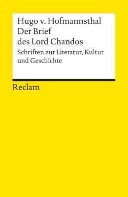 Der Brief des Lord Chandos - Hugo von Hofmannsthal |