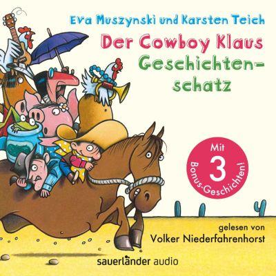 Der Cowboy Klaus Geschichtenschatz - Alle 12 Abenteuer (Ungekürzte Lesung mit Musik), Eva Muszynski, Karsten Teich