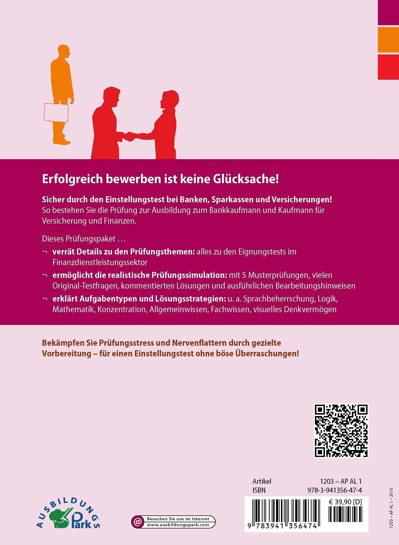 Der Einstellungstest / Eignungstest zur Ausbildung zum Bankkaufmann und  Kaufmann für Versicherungen und Finanzen