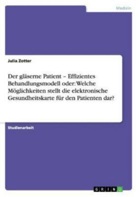 Der gläserne Patient - Effizientes Behandlungsmodell oder: Welche Möglichkeiten stellt die elektronische Gesundheitskart, Julia Zotter