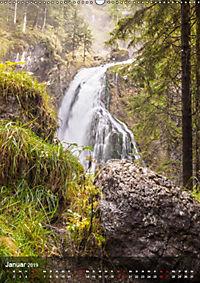 Der Gollinger Wasserfall (Wandkalender 2019 DIN A2 hoch) - Produktdetailbild 1