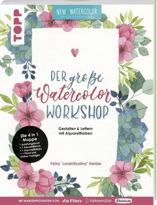 Der grosse Watercolor Workshop. Gestalten und Lettern mit Aquarell-Farben by unakritzolina, Petra Heider