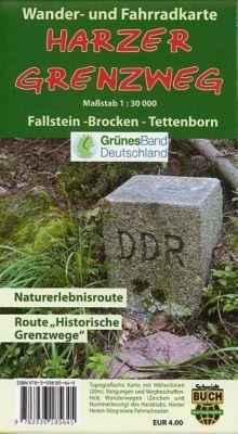 Der Harzer Grenzweg, Wander- und Fahrradkarte, Bernhard Spachmüller, Thorsten Schmidt