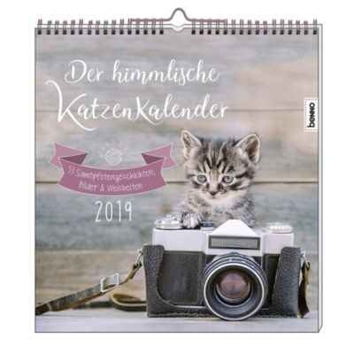 Der himmlische Katzenkalender 2019, Heike Wendler