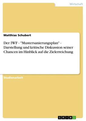 Der IWF - Mustersanierungsplan - Darstellung und kritische Diskussion seiner Chancen im Hinblick auf die Zielerreichung, Matthias Schubert