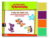 Der kleine Drache Kokosnuss - Fingerstempeln, m. 4 Fingerstempelfarben - Produktdetailbild 1