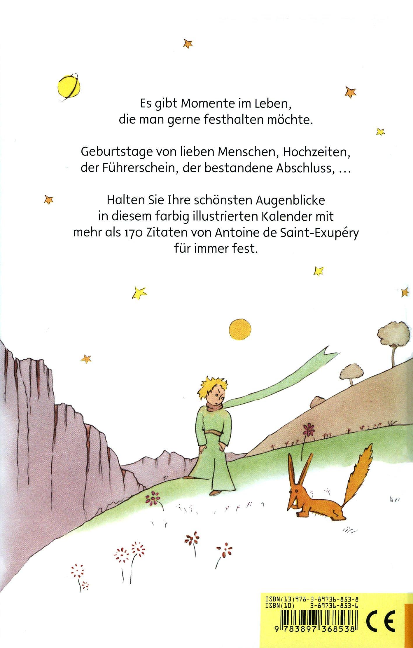 Der Kleine Prinz Immer Währender Kalender Buch Weltbild Ch